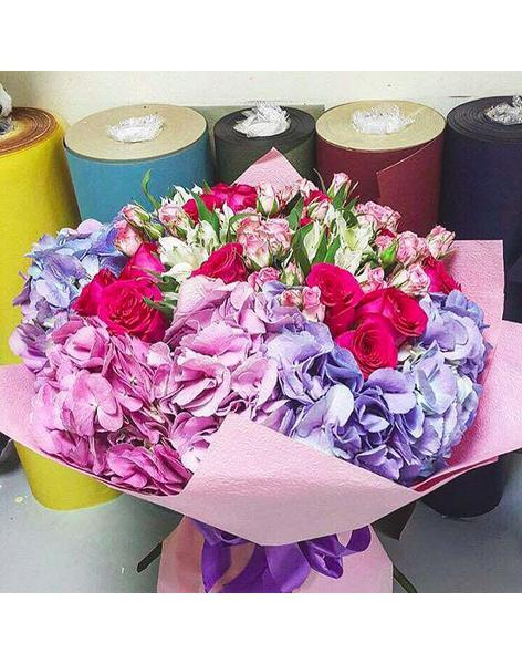 Unusual bouquet: delivery of flowers in