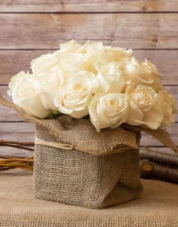 Sweet bouquet  | White roses flowers