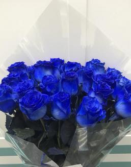 Bouquet of 25 blue roses | Blue roses flowers