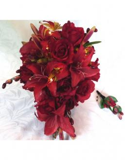 Bouquet of 51 red lilies | Flowers for Baby's Birth flowers