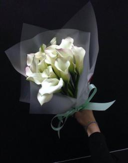 Bouquet of 15 white callas | Flowers for Birthday flowers