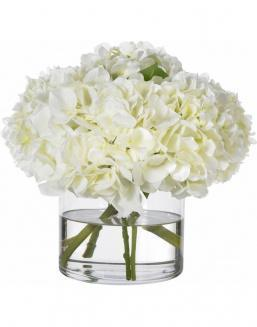 Bouquet of 51 white hydrangeas | Hydrangeas