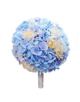 Bouquet of 15 blue hydrangeas | Flowers for Housewarming