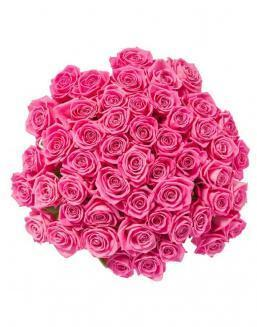 Bouquet of 51 pink roses | Flowers for Birthday flowers