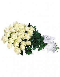 Bouquet of 15 white roses | White roses flowers