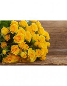 Bouquet of 51 yellow roses | Roses flowers