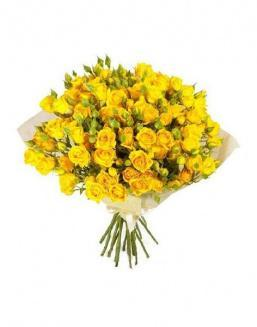 Bouquet of 51 yellow rose bushes | Yellow flowers flowers