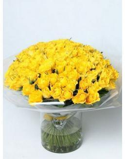 Bouquet of 101 yellow rose bushes | Flowers to mother flowers
