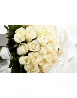 Bouquet of 15 white spray roses | White roses flowers
