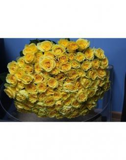 Bouquet 101 yellow roses | Flowers to beloved