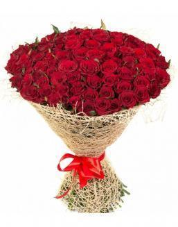 Bouquet of 101 red roses | Flowers flowers