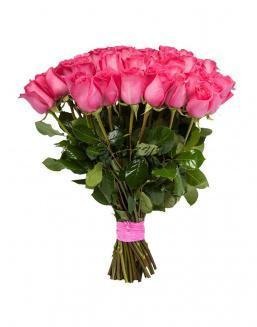 Bouquet of 15 pink Dutch roses | Flowers for Birthday flowers