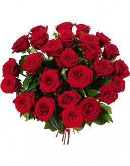 Bouquet of 25 red Dutch roses | Roses flowers