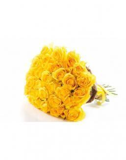Bouquet of 29 yellow roses | Yellow flowers flowers