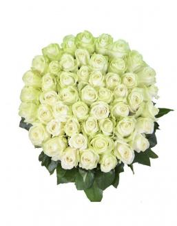 Bouquet 101 white roses | White roses flowers