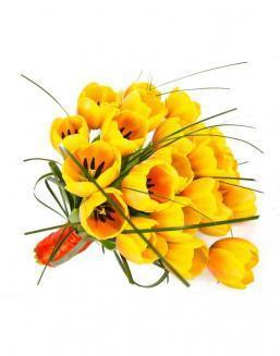 Bouquet of 25 yellow tulips | Flowers to beloved