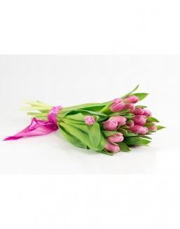 Bouquet of 15 pink tulips | Flowers on International Women's Day flowers