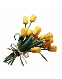 Bouquet of 15 yellow tulips | Yellow flowers flowers