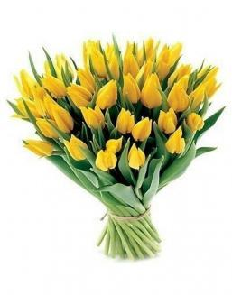 Bouquet of 51 yellow tulips | Flowers on International Women's Day flowers