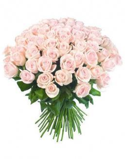 Bouquet of 51 pink Dutch roses | Roses flowers