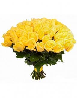 Bouquet of 51 yellow roses | Yellow flowers flowers