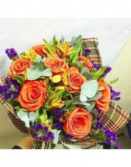Chic bouquet | Flowers to friend for Birthday