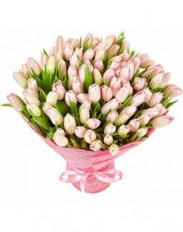 Bouquet 101 pink tulips | Flowers for Birthday flowers