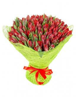 Bouquet 101 red tulips | Flowers for Birthday flowers