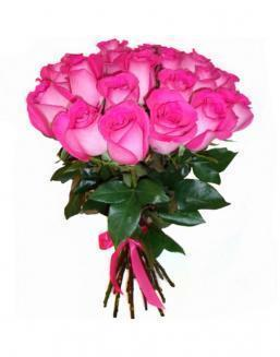 21 high elite pink roses | Flowers to friend for Birthday