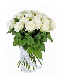 21 high elite white roses | Flowers to mother flowers