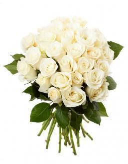 Bouquet of 33 white roses | Flowers for Birthday flowers