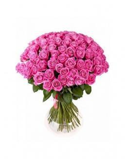 Bouquet of 77 pink roses | Flowers to mother flowers