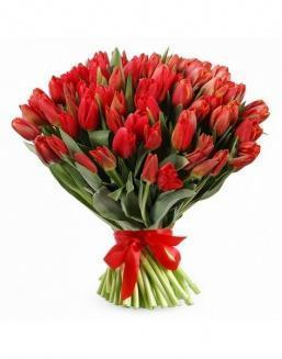 Bouquet 201 red tulips | Flowers to mother flowers