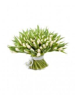 Bouquet 201 white tulips | Flowers to mother flowers